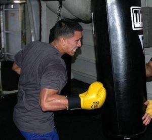 Boxningssäck är perfekt att träna slag mot.